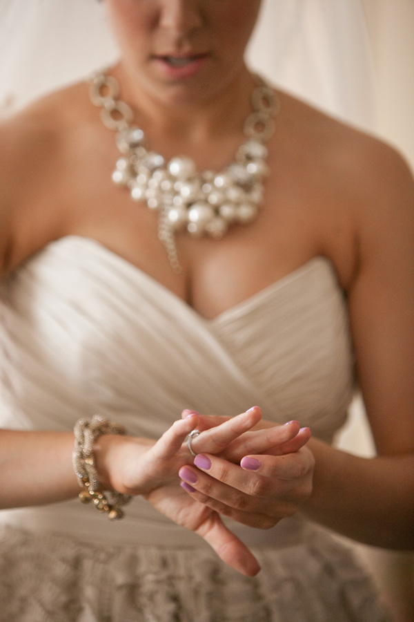 Amsale Dahlia Wedding Dress Lee Angel Pearl Cluster Necklace